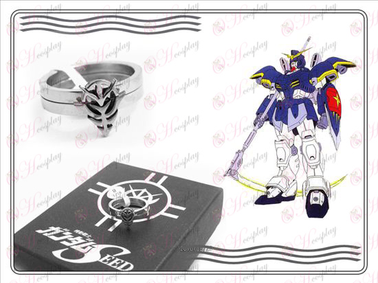 Gundam Accessories logo stainless steel couple rings