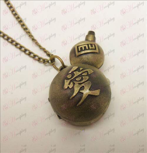 Naruto Gaara necklace watch