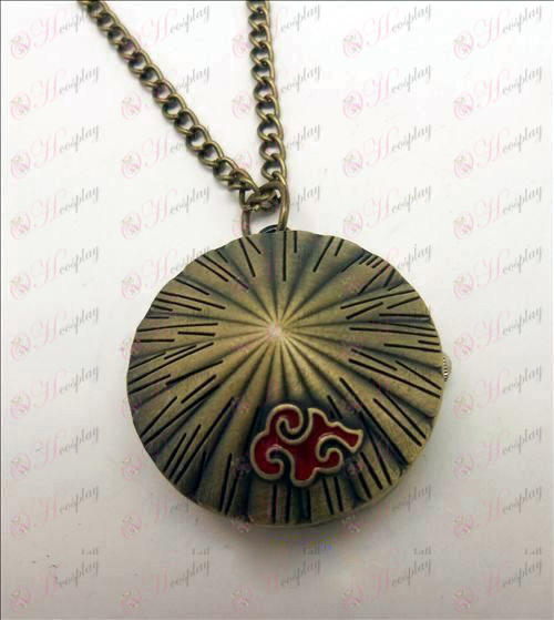 Naruto Red Cloud Necklace table
