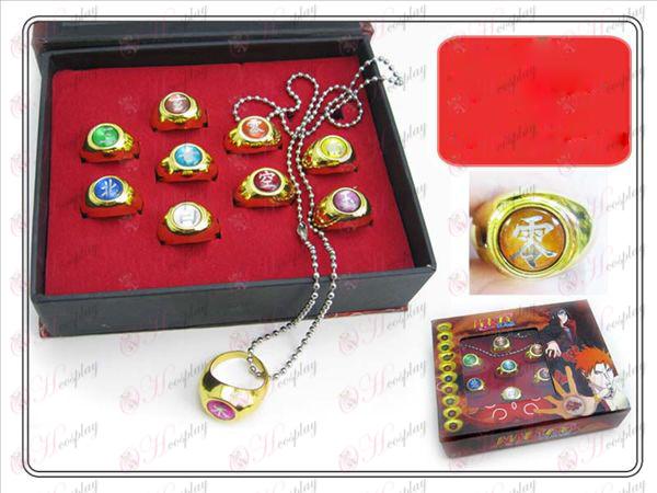 Naruto Xiao Organization ten Ring (Gold Edition)