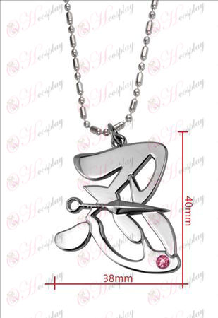 Naruto - Shinobu word pink diamond necklace