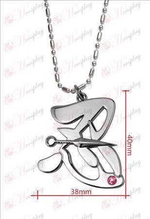 Naruto - Shinobu word pink diamond necklace