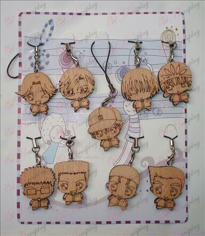 The Prince of Tennis Accessories Wood Carving Strap (9 / set)