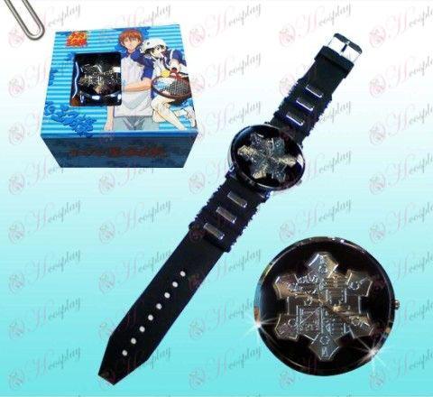נסיך טניס אבזרים Seigaku לוגו שעונים שחורים