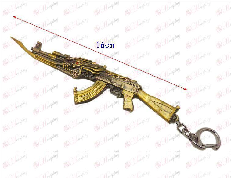 CrossFire TilbehørAk vrede unicorn kniv spænde (guld)