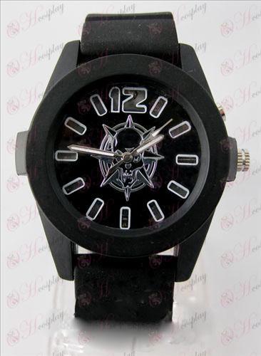 CrossFire Tilbehør farverige blinkende lys Watch - Black