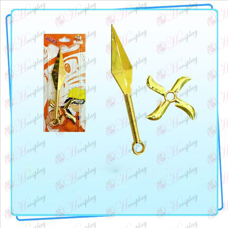 Naruto Sasuke Weapon Shuriken - Dart Set (Gold)