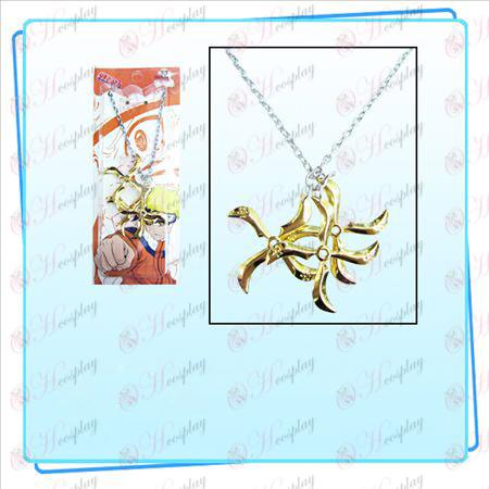 Naruto darts three loaded Necklace (Gold)