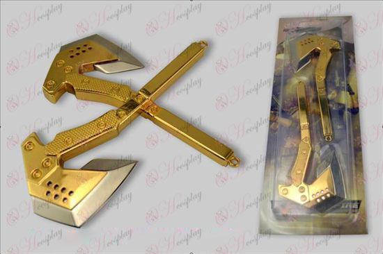 CrossFire Accesorios-14 cm Paquete ejército hacha de mano (oro)