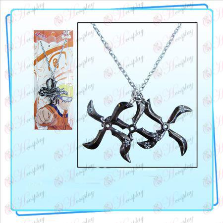 Naruto darts three loaded Necklace (Black)