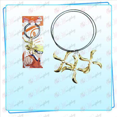 Naruto дартс три заредени верига стомана (злато)