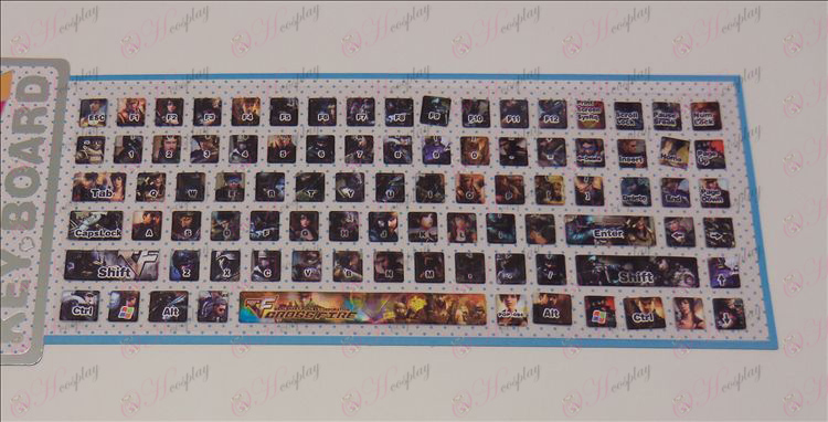 PVC keyboard stickers (CrossFire Accessories)
