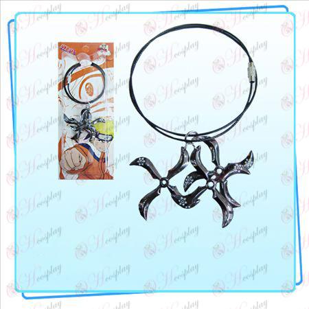 Зареждане на стомана верига Naruto три стрели (черен)