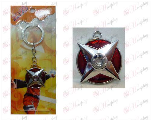 Naruto angoli Logo portachiavi (Red)