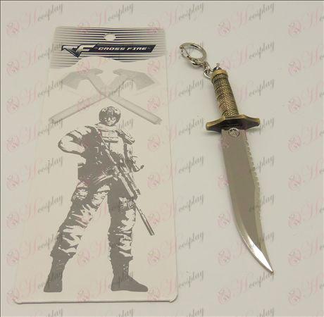 CrossFire Accessori pugnale coltello fibbia (14cm)