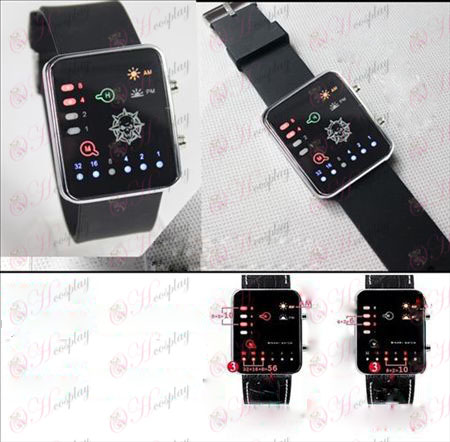 (CrossFire Accessories) four-color silicone band Binary LED Watch
