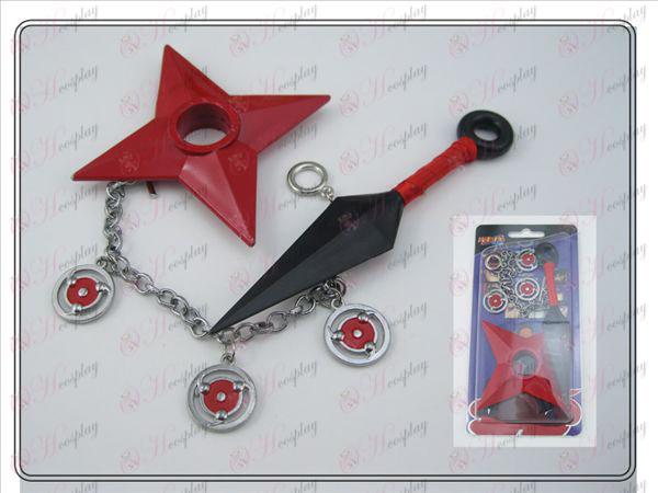 Naruto Shuriken + amer Aucun + bracelet (trois pièces)