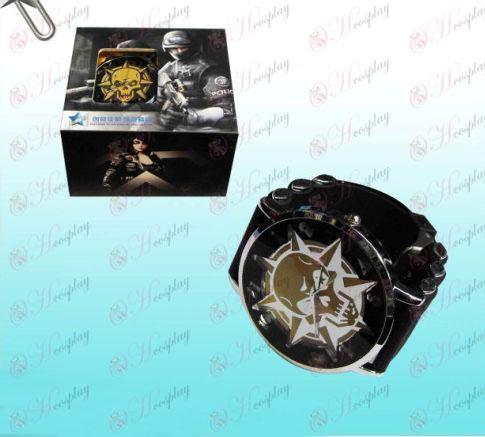 CrossFire Accessoriescf afro preto relógios de ouro