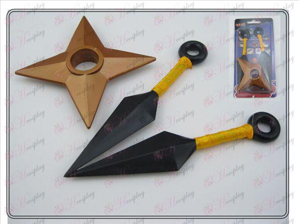 Naruto or Double Aucune amer + Shuriken (trois pièces)