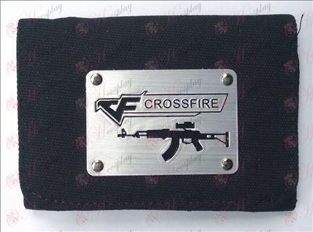 CrossFire Accessories White Canvas Wallet (Black)