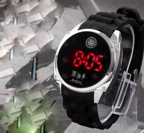 Negro mayordomo Accesorios logotipo del Pacto LED reloj de la pantalla táctil