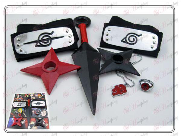Naruto veliko grenkobe brez Hongyun Vrednost 7 seti (rdeča)