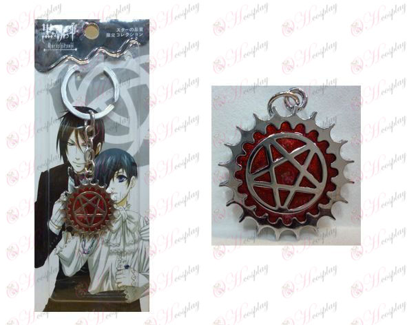 Black Butler Accessories Compact flag - red keychain