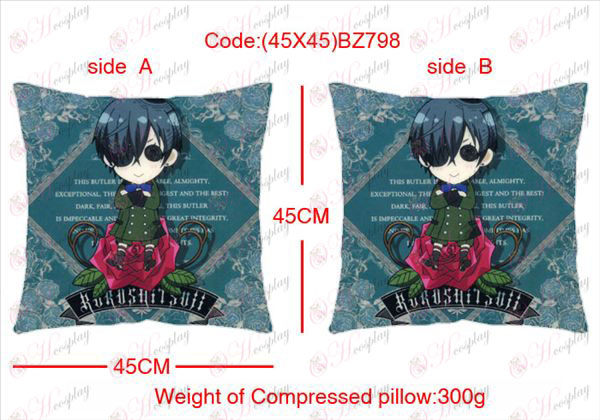 (45X45) BZ798-Black Butler Accessories Anime sided square pillow