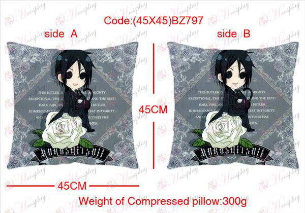 (45X45) BZ797-Black Butler Accessories Anime sided square pillow