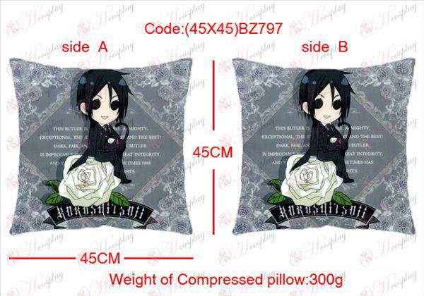 (45X45) BZ797-Black Butler Tilbehør Anime sidet firkantet pude