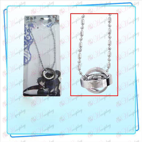 Black Butler Accessories eagle logo double ring necklace (card)