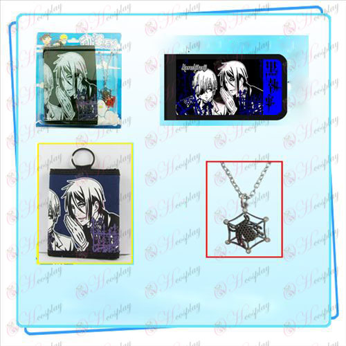Black Butler Accessories necklace fold wallet combo (necklace random distribution)