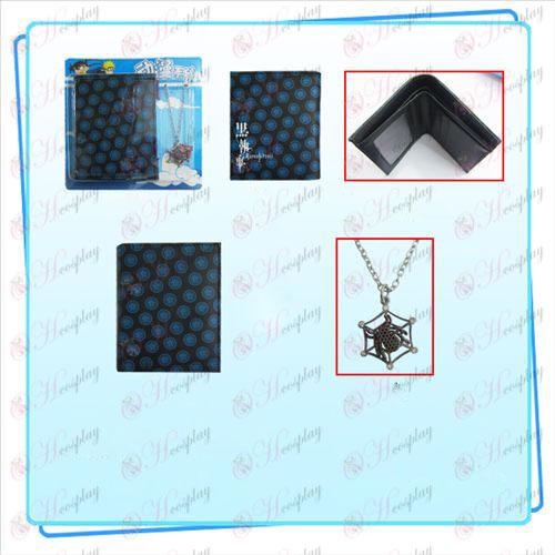 Black Butler Zubehör Combo Halskette Geldbörse