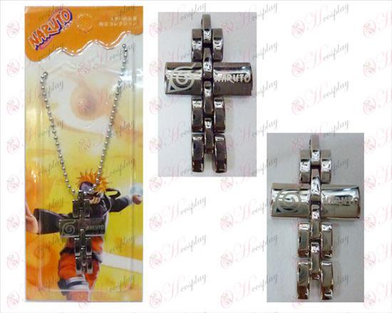 Naruto črni in beli križ ogrlico