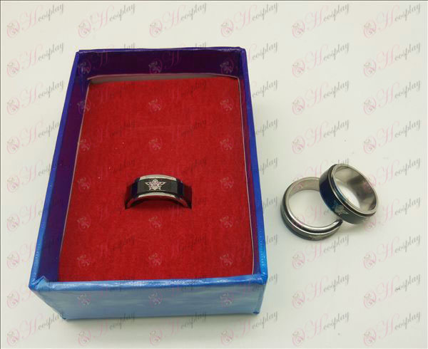 Fekete Butler Kiegészítők fekete acél forgó gyűrű