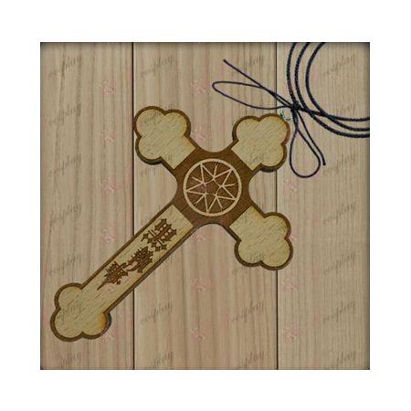 Black Butler Accessoires-daad vlag houten kruis ketting