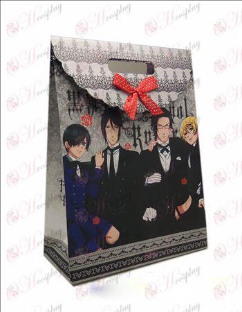 Nagy Ajándék táska (fekete Butler tartozék) 10 db / csomag