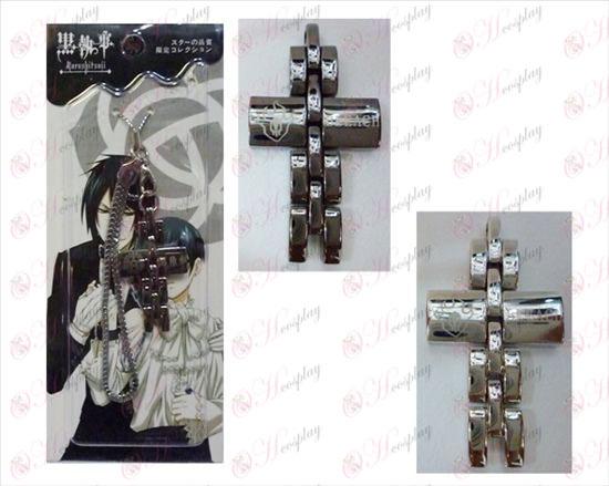 Sort Butler Tilbehør Cross strop i sort og hvid