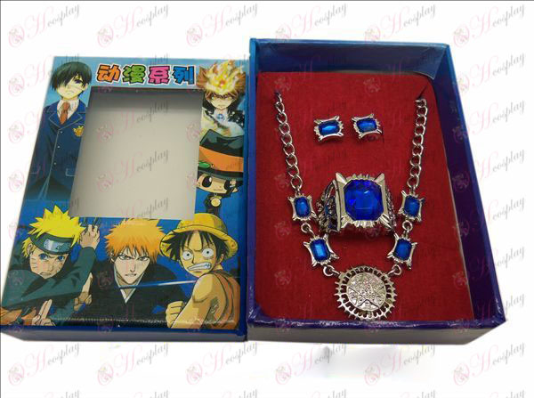 DBlack Butler Accessories deed necklace + ring + earrings (big ring)