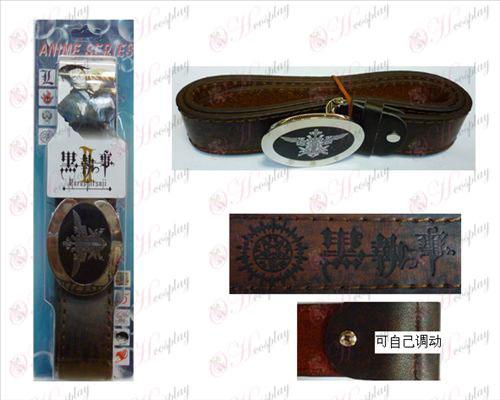 Black Butler Accessories eagle logo new belt