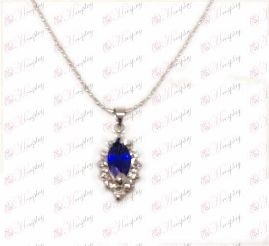 D 물집 까만 집사 액세서리 다이아몬드 목걸이 (블루)