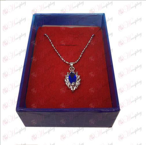 D boxed Black Butler Accessories Diamond Necklace (Blue)