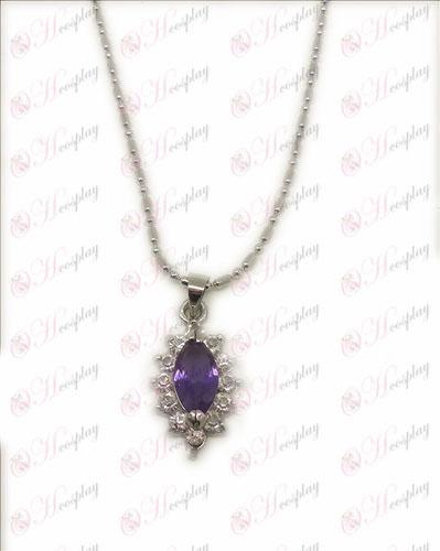 D Blister Black Butler Acessórios Diamond Necklace (roxo)