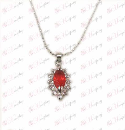 D Blister Black Butler Acessórios Colar de diamante (vermelho)