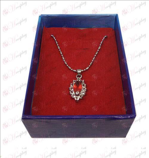 D boxed Black Butler tilbehør diamant halskæde (Rød)