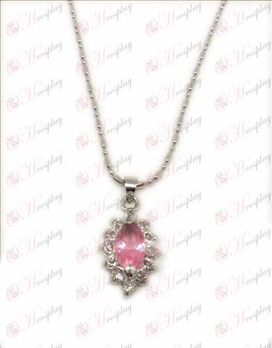 D Fólia fekete Butler Tartozékok gyémánt nyaklánc (Pink)