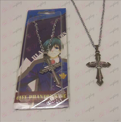 D Cross Necklace (Black Butler Accessories eagle logo)