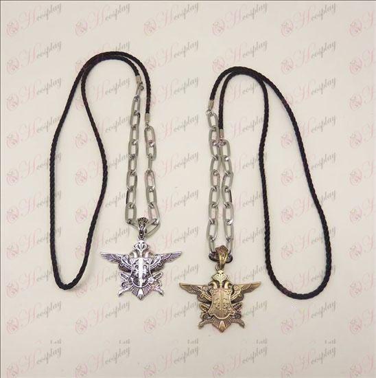 DBlack Butler Accessories eagle standard two-color long necklace punk