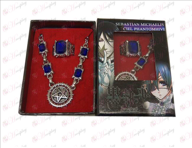 DBlack Butler Accessories Compact logo necklace + ring
