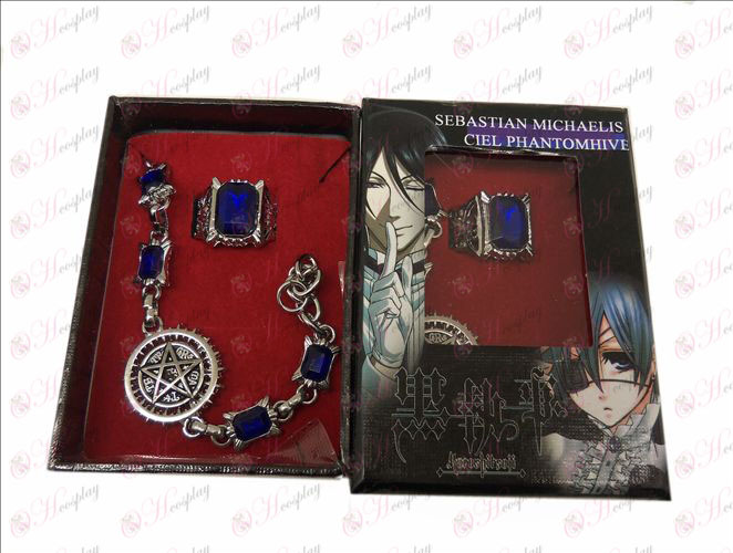 DBlack Butler Accessories Compact flag bracelet + ring